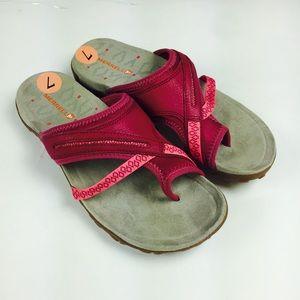 Merrell Ari Wrap Sandals womens 7 pink sport